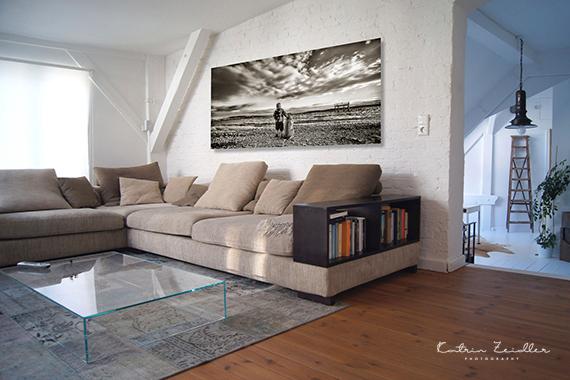 Tierfotografie auf Alu Dibond Wohnzimmer