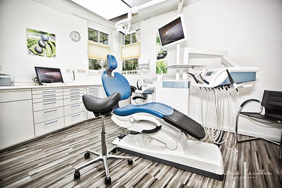 Praxisfotografie - Zahnarztpraxis Behandlungszimmer