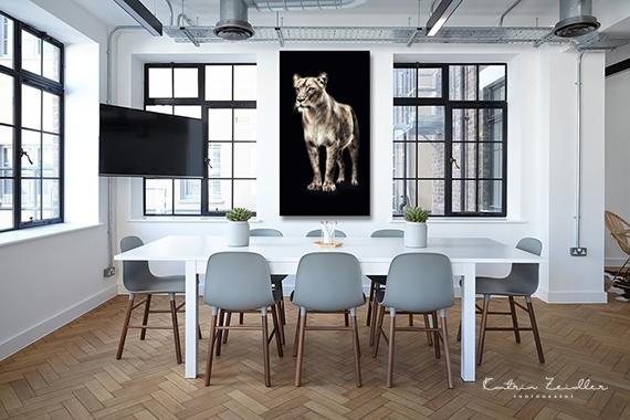 Tierfotografie auf Alu Dibond Esszimmer