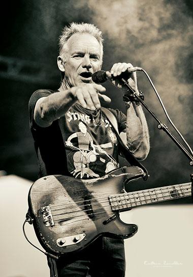 Konzertfotografie - Sting auf der Bühne