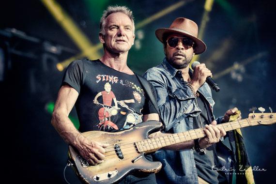 Konzertfotografie - Sting und Shaggy auf der Bühne