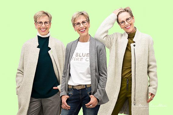 3 in 1 - meine beliebte Duplikation präsentiert 3 verschiedene Mode Style auf einem Foto