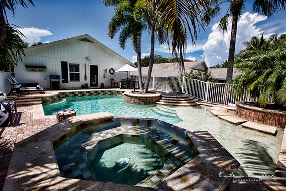 Businessfoto Ferienhaus Pool Florida