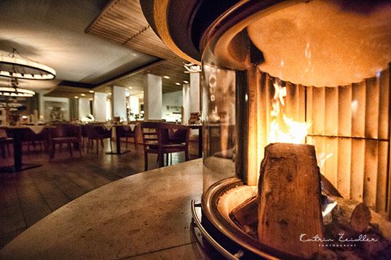 Business Fotografie - Restaurant mit Kamin