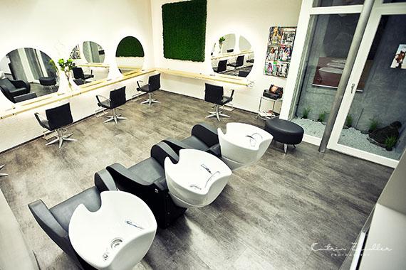 Businessfoto Friseur Salon Waschtische