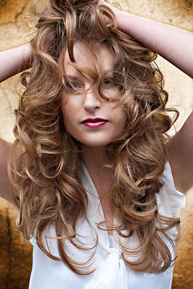 Businessfoto Friseur Haarschnitt braun offen
