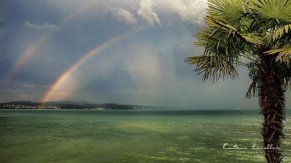 Landschaftsfotografie Insel Mainau Regenbogen