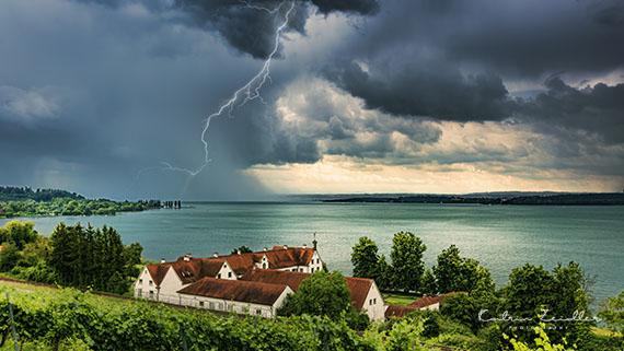 Landschaftsfotografie Bodensee Maurach Birnau Gewitter
