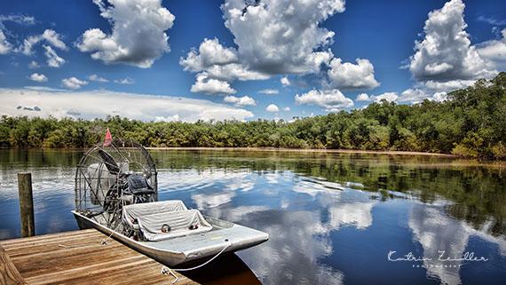 Landschaftsfotografie Florida Everglades Airboat