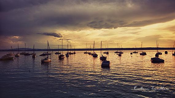 Landschaftsfotografie Hagnau Abendstimmung Gewitter