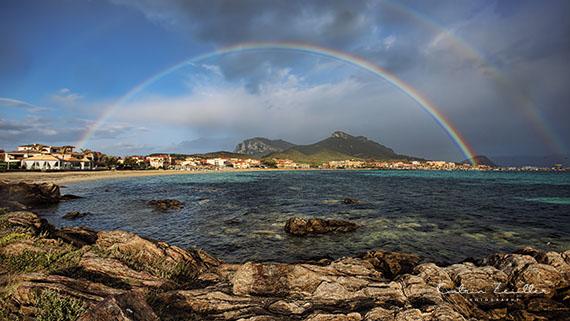 Landschaftsfotografie Sardinien Golf Aranci Regenbogen