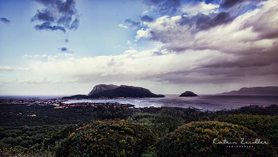 Landschaftsfotografie Sardinien Golf Aranci Blick von oben