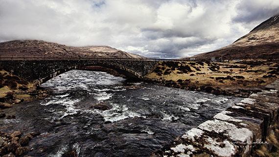 Landschaftsfotografie Schottland Sky Carbost Fluss River 2
