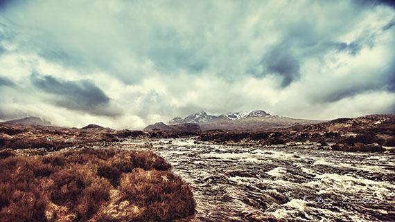 Landschaftsfotografie Schottland Sky Carbost Fluss River