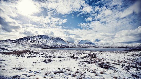 Landschaftsfotografie Schottland Travelwork Rannoch Moor Schnee