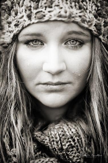 Porträtfotografie Pose weinende Frau