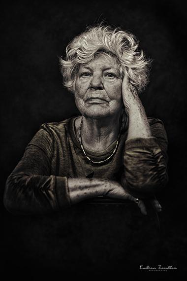 Porträtfotografie alte Frau