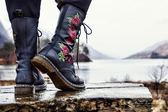 Werbefotografie - Produkt outdoor Schuhe wasserdicht