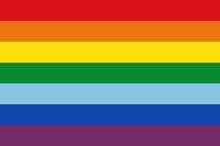 Flagge Cusco - Regenbogenfarben