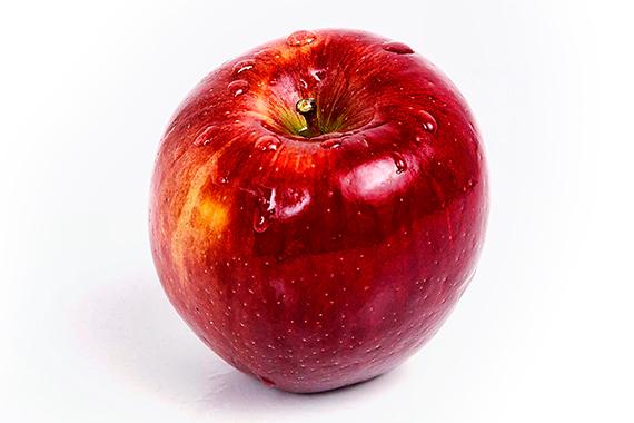 Foodfoto Apfel mit Wasserperlen