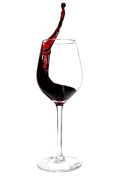 Rotwein präsentiert