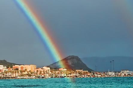 doppelter Regenbogen Sardinien