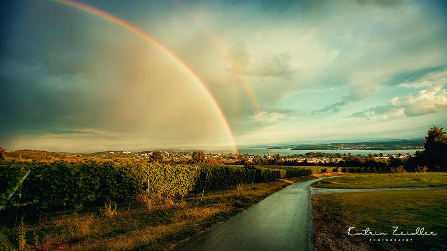 Wie entsteht ein doppelter Regenbogen