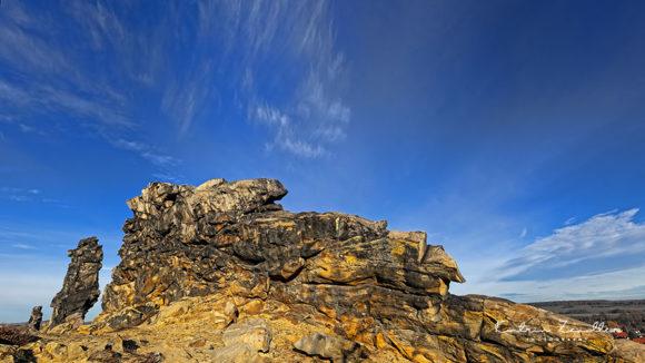 Teufelsmauer Harz - Blick in den Himmel