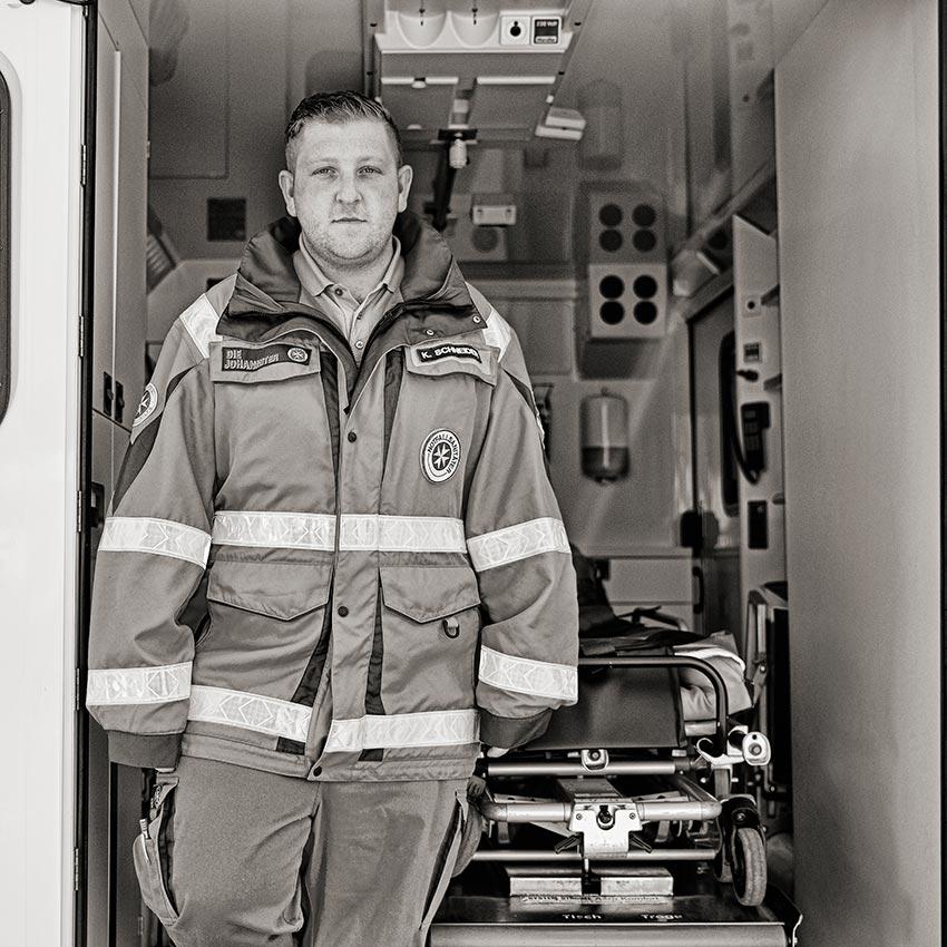 Notfallsanitäter Kevin Schneider Friedrichshafen