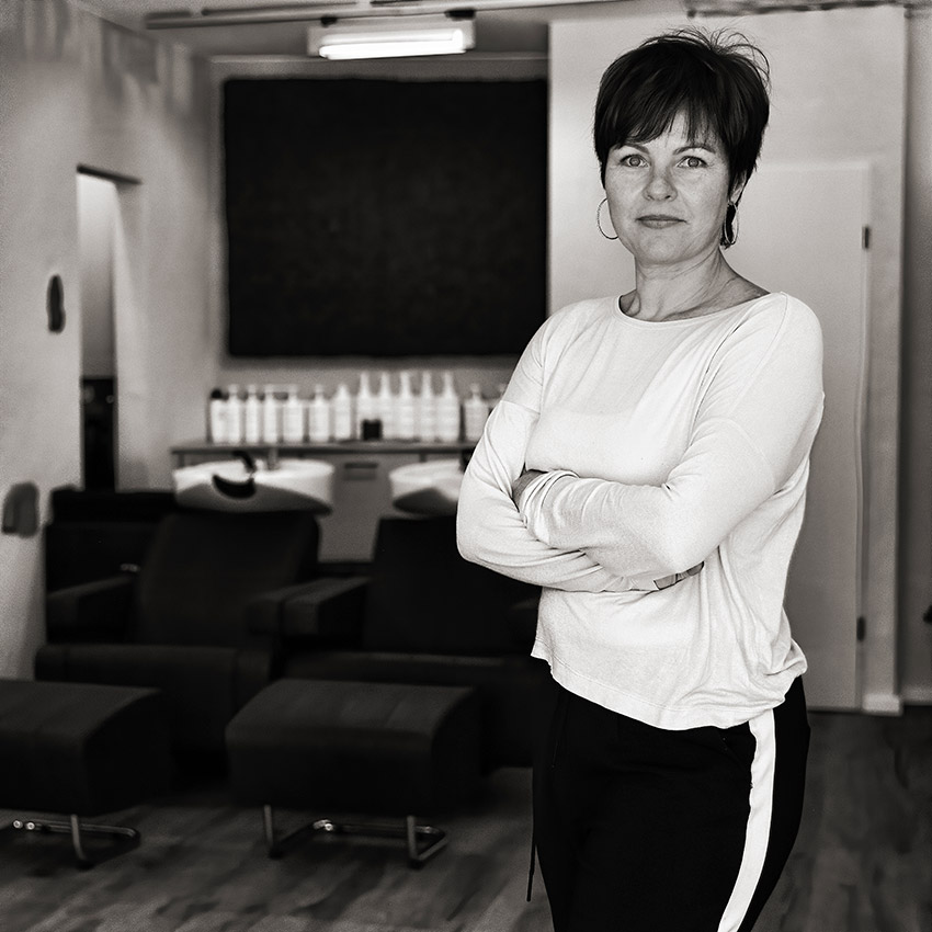 Friseurin Astrid Schröder
